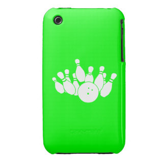 verde de la silueta del iPhone que rueda 3 Funda Para iPhone 3 De Case-Mate
