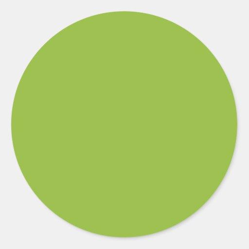 Verde de la sopa de guisantes etiquetas redondas