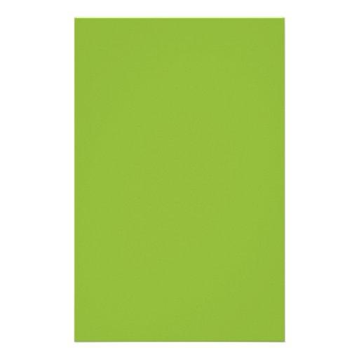 Verde de la sopa de guisantes papeleria personalizada