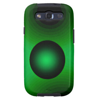 Verde de la suspensión del arte abstracto galaxy SIII cobertura