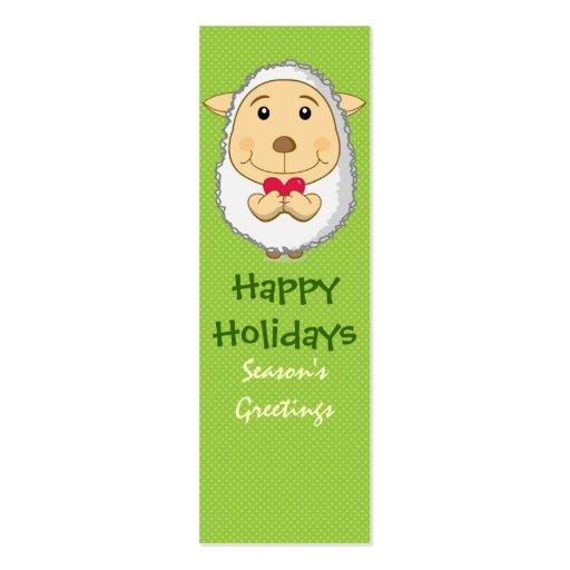 Verde de la tarjeta de la señal de las ovejas plantilla de tarjeta de negocio