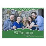 Verde de la tarjeta de Navidad de la foto y obra Comunicados Personales