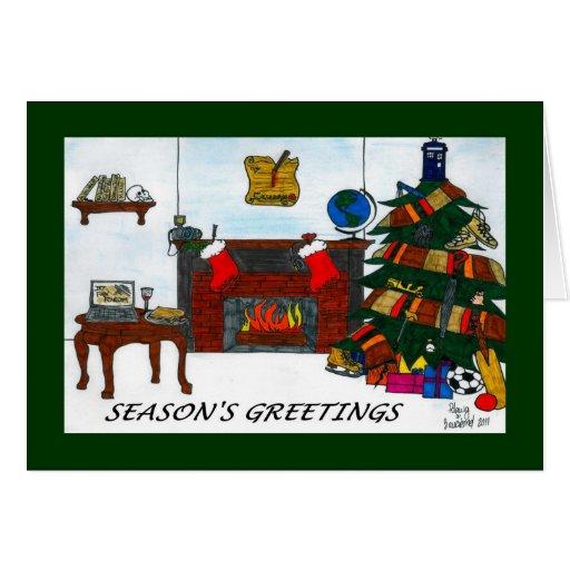 Verde de la tarjeta de Navidad de TSSB