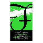 Verde de la tarjeta de visita de la salpicadura