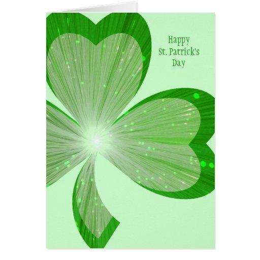 """Verde de la tarjeta día del """"de St Patrick grande"""""""