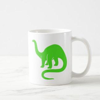 Verde de la taza del dinosaurio