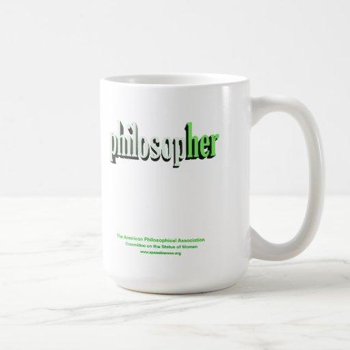 verde de la taza del filósofo