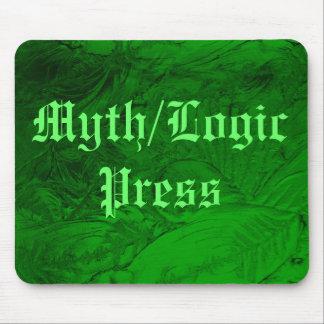 Verde de la teja, mito/LogicPress Alfombrillas De Ratones