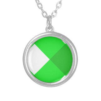 Verde de la tela escocesa 1 joyería