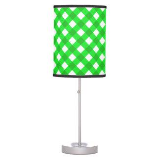 Verde de la tela escocesa 1 lámpara de mesilla de noche