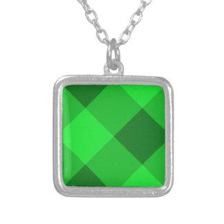 Verde de la tela escocesa 2 grimpolas personalizadas