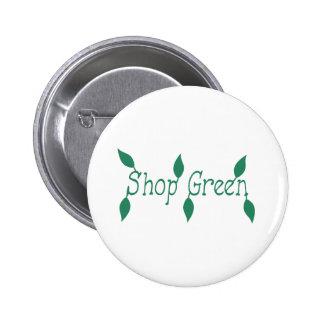 Verde de la tienda pins
