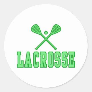 Verde de LaCrosse Etiqueta Redonda