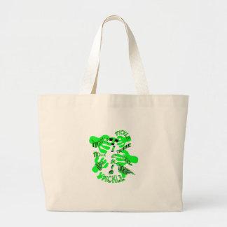 verde de las cosquillas de las cosquillas bolsa tela grande