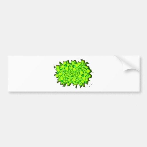 Verde de las flores de corte pegatina de parachoque