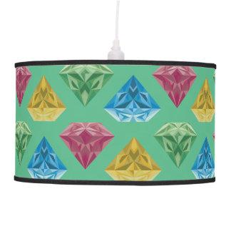 Verde de las piedras preciosas lámpara de techo