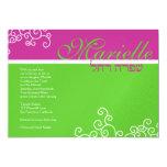 Verde de las rosas fuertes de Marielle de la Invitación Personalizada