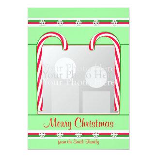 Verde de los bastones de caramelo del navidad comunicados personales