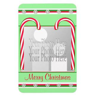 Verde de los bastones de caramelo del navidad (mar iman de vinilo