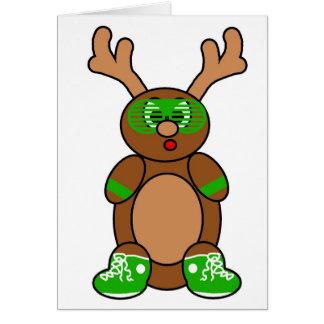 verde de los ciervos de la pandilla tarjeta de felicitación