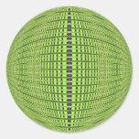 verde de los círculos etiqueta redonda