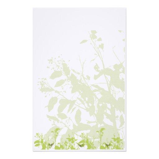 Verde de los efectos de escritorio de la naturalez papeleria personalizada