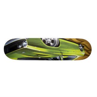 verde de los hotwheels monopatín