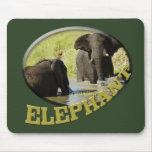 Verde de los mousepads del safari de la fauna de l alfombrilla de ratón