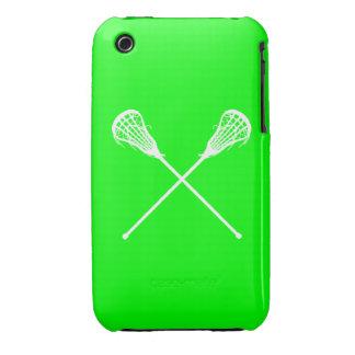 verde de los palillos de LaCrosse del iPhone 3 Case-Mate iPhone 3 Protectores