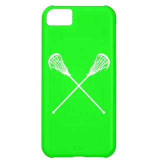 verde de los palillos de LaCrosse del iPhone 5 Funda Para iPhone 5C
