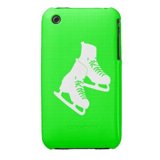 verde de los patines de hielo del iPhone 3 iPhone 3 Case-Mate Protectores