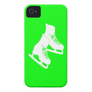 verde de los patines de hielo del iPhone 4 iPhone 4 Case-Mate Coberturas