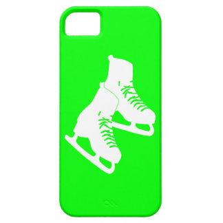 verde de los patines de hielo del iPhone 5 iPhone 5 Case-Mate Funda