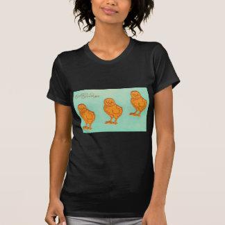 Verde de los polluelos de los saludos de Pascua Camiseta