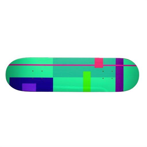 Verde de los rectángulos tabla de skate