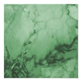 """Verde de lujo elegante de mármol clásico elegante invitación 5.25"""" x 5.25"""""""