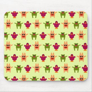 Verde de lúpulo de Mousepad del modelo de los mons Alfombrillas De Ratón