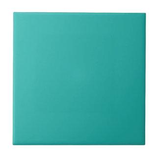 Verde de mar de la luz del color sólido azulejo cuadrado pequeño