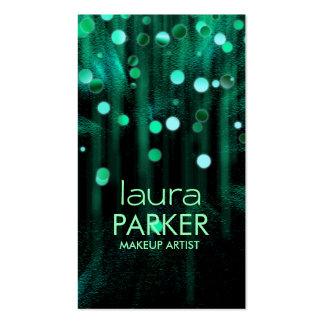 Verde de mar del brillo de la belleza del artista tarjeta de visita