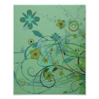 Verde de mar floral moderno fotos