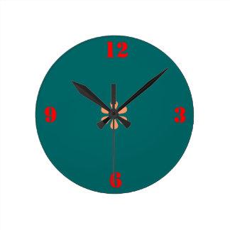Verde de mar minimalista > relojes de pared llanos