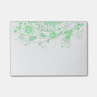 Verde de menta caprichoso - cuaderno de notas post-it notas