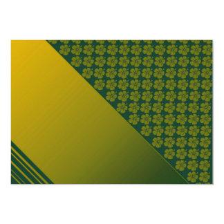 Verde de musgo y oro, invitación de la plantilla