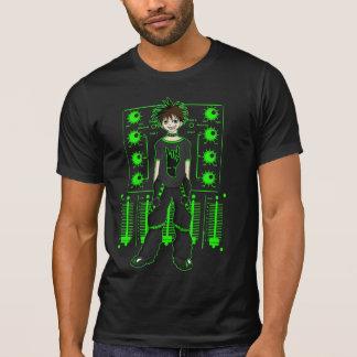 Verde de neón industrial playera