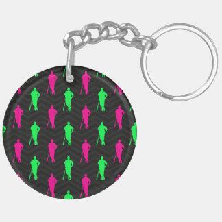 Verde de neón rosa fuerte béisbol negro del sof