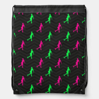 Verde de neón, rosa fuerte, patinaje artístico Che Mochila