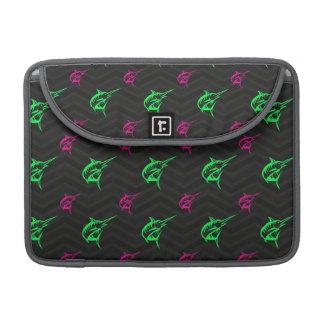 Verde de neón, rosa fuerte, pesca en alta mar, funda para macbook pro