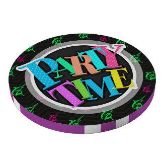 Verde de neón, rosa fuerte, pesca en alta mar, neg juego de fichas de póquer