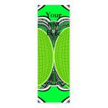 Verde de neón y gris superfly plantillas de tarjetas de visita