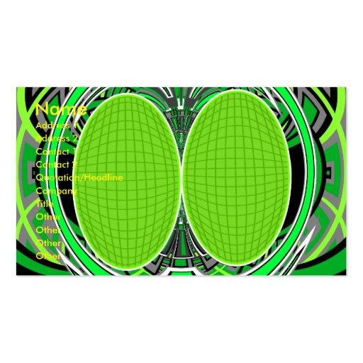 Verde de neón y gris superfly plantillas de tarjeta de negocio